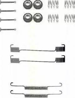 Triscan 8105 172465 - Piederumu komplekts, Bremžu loki autodraugiem.lv