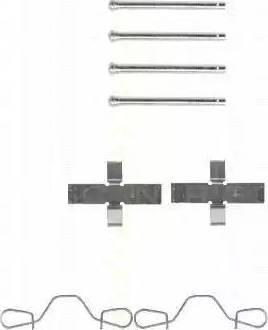 Triscan 8105 291397 - Piederumu komplekts, Disku bremžu uzlikas autodraugiem.lv
