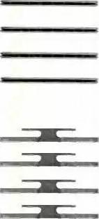 Triscan 8105 241412 - Piederumu komplekts, Disku bremžu uzlikas autodraugiem.lv