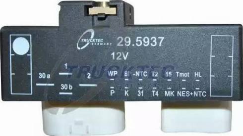 Trucktec Automotive 07.42.090 - Vadības bloks, Elektroventilators (Motora dzesēšana) autodraugiem.lv