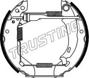Trusting 6045 - Bremžu komplekts, trumuļa bremzes autodraugiem.lv