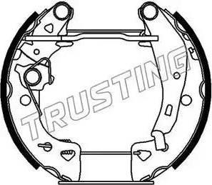 Trusting 6042 - Bremžu komplekts, trumuļa bremzes autodraugiem.lv