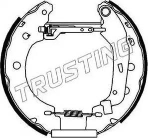 Trusting 6156 - Bremžu komplekts, trumuļa bremzes autodraugiem.lv