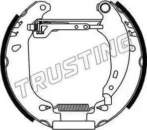 Trusting 616.0 - Bremžu komplekts, trumuļa bremzes autodraugiem.lv