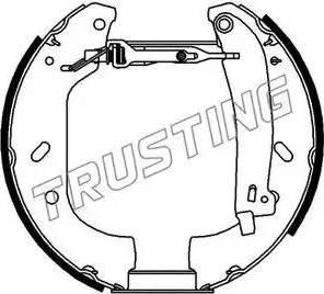 Trusting 6102 - Bremžu komplekts, trumuļa bremzes autodraugiem.lv