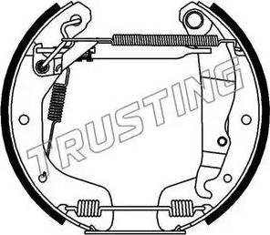 Trusting 6118 - Bremžu komplekts, trumuļa bremzes autodraugiem.lv