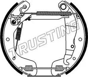 Trusting 6112 - Bremžu komplekts, trumuļa bremzes autodraugiem.lv