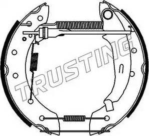 Trusting 6181 - Bremžu komplekts, trumuļa bremzes autodraugiem.lv