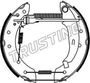 Trusting 6182 - Bremžu komplekts, trumuļa bremzes autodraugiem.lv