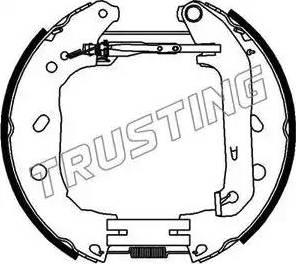 Trusting 6395 - Bremžu komplekts, trumuļa bremzes autodraugiem.lv