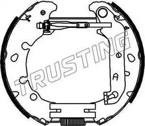 Trusting 6392 - Bremžu komplekts, trumuļa bremzes autodraugiem.lv