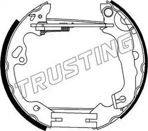 Trusting 6296 - Bremžu komplekts, trumuļa bremzes autodraugiem.lv