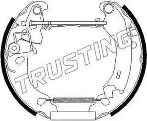 Trusting 625.0 - Bremžu komplekts, trumuļa bremzes autodraugiem.lv