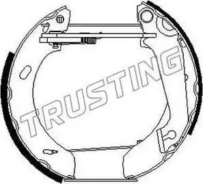 Trusting 6265 - Bremžu komplekts, trumuļa bremzes autodraugiem.lv
