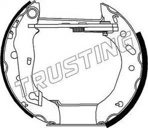 Trusting 6267 - Bremžu komplekts, trumuļa bremzes autodraugiem.lv
