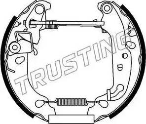 Trusting 6239 - Bremžu komplekts, trumuļa bremzes autodraugiem.lv