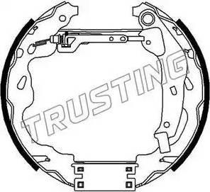 Trusting 6275 - Bremžu komplekts, trumuļa bremzes autodraugiem.lv