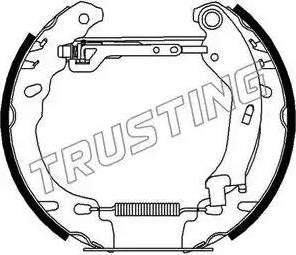 Trusting 6278 - Bremžu komplekts, trumuļa bremzes autodraugiem.lv