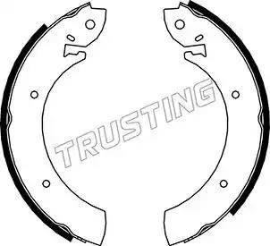 Trusting 040.080 - Bremžu komplekts, trumuļa bremzes autodraugiem.lv