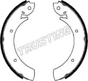 Trusting 088.207 - Bremžu komplekts, trumuļa bremzes autodraugiem.lv