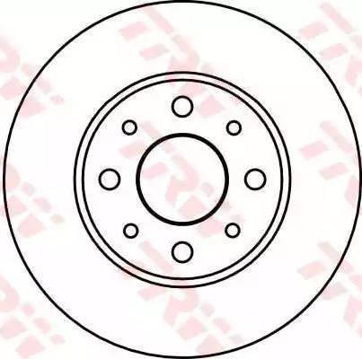 TRW DF4037 - Bremžu diski autodraugiem.lv