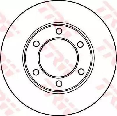 TRW DF4153 - Bremžu diski autodraugiem.lv
