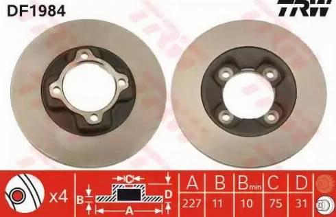TRW DF1984 - Bremžu diski autodraugiem.lv