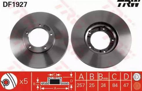TRW DF1927 - Bremžu diski autodraugiem.lv