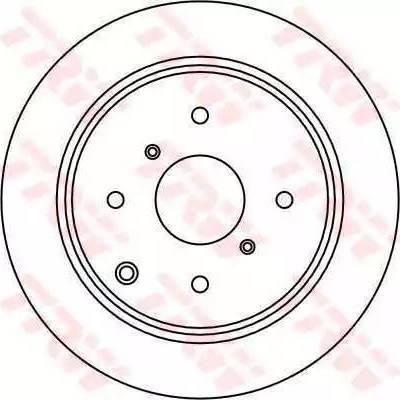TRW DF1442 - Bremžu diski autodraugiem.lv