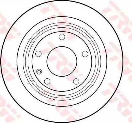 TRW DF1590 - Bremžu diski autodraugiem.lv