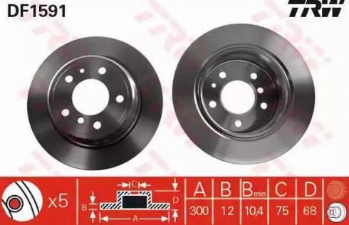TRW DF1591 - Bremžu diski autodraugiem.lv