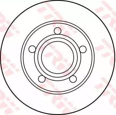 TRW DF1542 - Bremžu diski autodraugiem.lv