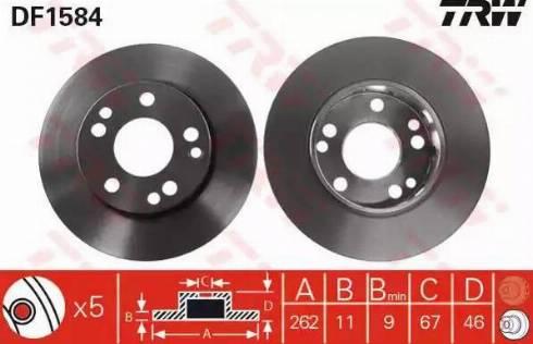 TRW DF1584 - Bremžu diski autodraugiem.lv