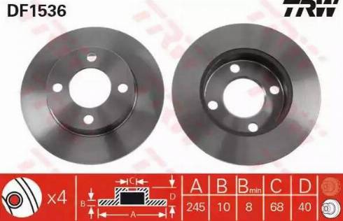 TRW DF1536 - Bremžu diski autodraugiem.lv