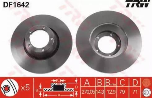 TRW DF1642 - Bremžu diski autodraugiem.lv