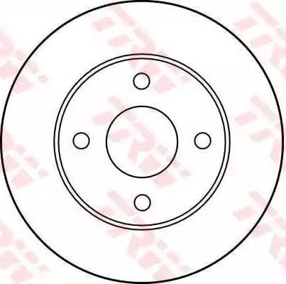 TRW DF1656 - Bremžu diski autodraugiem.lv