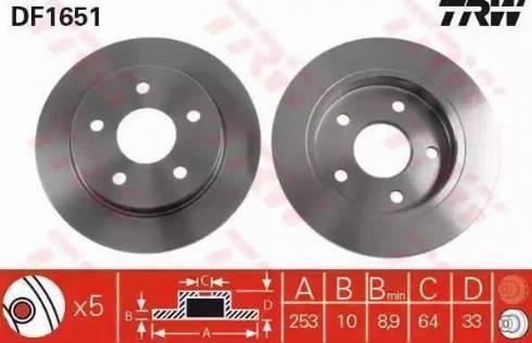 TRW DF1651 - Bremžu diski autodraugiem.lv