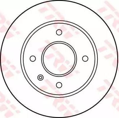 TRW DF1652 - Bremžu diski autodraugiem.lv