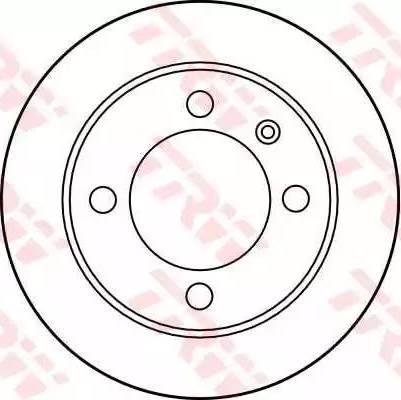 TRW DF1630 - Bremžu diski autodraugiem.lv