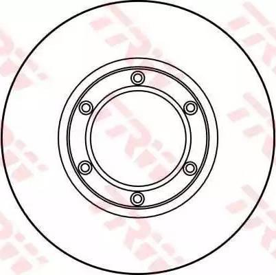 TRW DF1005 - Bremžu diski autodraugiem.lv