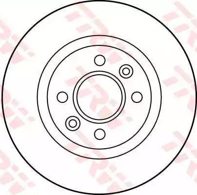 TRW DF1017 - Bremžu diski autodraugiem.lv