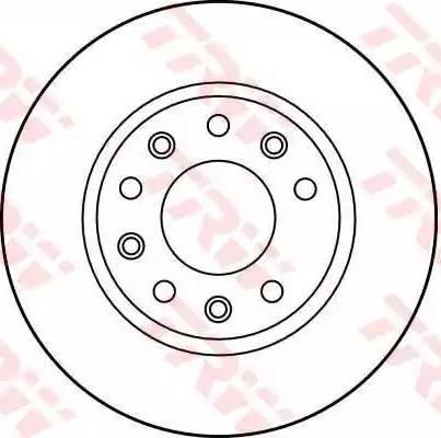 TRW DF1022 - Bremžu diski autodraugiem.lv