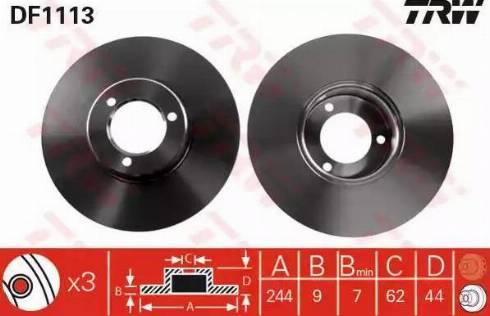 TRW DF1113 - Bremžu diski autodraugiem.lv