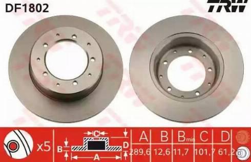 TRW DF1802 - Bremžu diski autodraugiem.lv