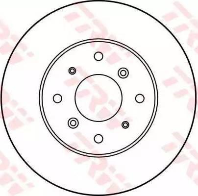 TRW DF1811 - Bremžu diski autodraugiem.lv