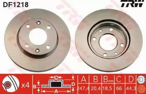 TRW DF1218 - Bremžu diski autodraugiem.lv