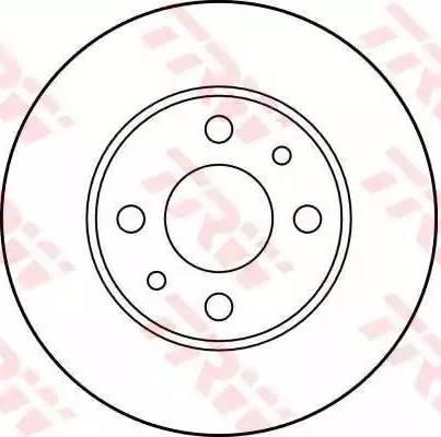TRW DF1791 - Bremžu diski autodraugiem.lv