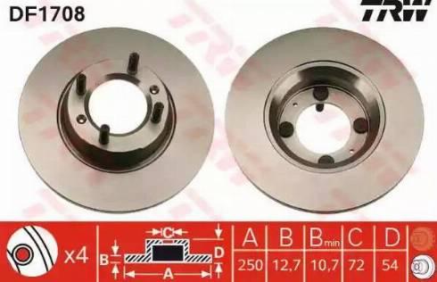 TRW DF1708 - Bremžu diski autodraugiem.lv