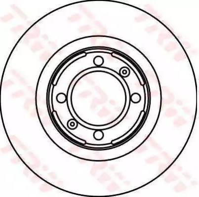 TRW DF1714 - Bremžu diski autodraugiem.lv