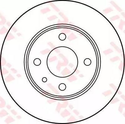 TRW DF1732 - Bremžu diski autodraugiem.lv